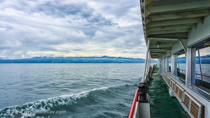 Überfahrt von Lindau nach Rohrschach (Bodensee)