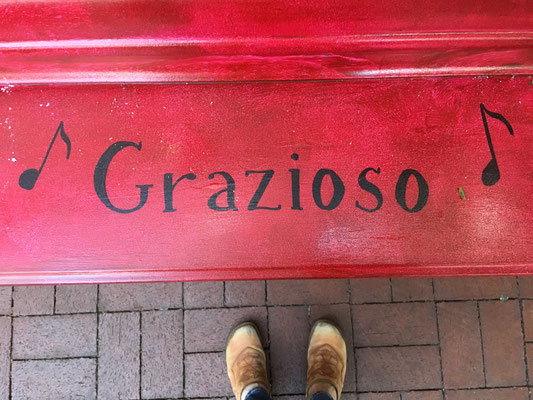 Grazioso is the musical direction, graceful, to play with grace.