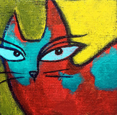 """Painted magnet - 2 1/2"""", acrylics - available, please contact me for details"""