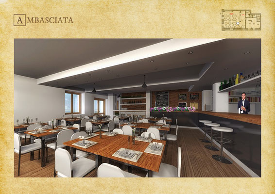 Area Bar Restaurant Ambasciata - © R. Aleotti, A. Pea, T. Tamborriello