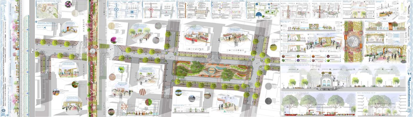 Approfondimento 02 - Connessione tra Parco Lineare e Asse Attrezzato, Progetto Arch. Paes. Federica Perissi - © F. Perissi, M. Cicalini