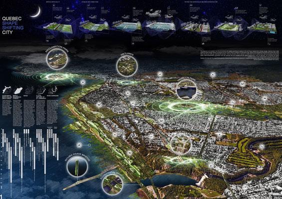 Québec Shape Shifting City - © R. Moya, A. Pea, F. Perissi, R. Porreca, G. Quattrone, D. Rocchio, R. Sousa