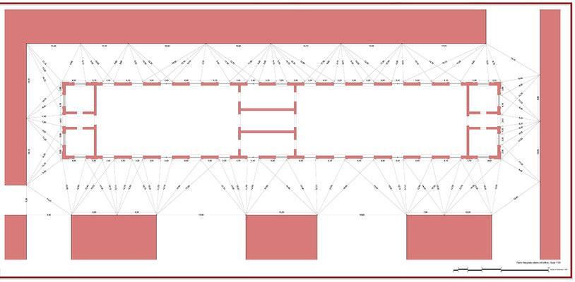 Rilievo architettonico - Pianta - © A. Pea, R. Porreca, L. Sepe