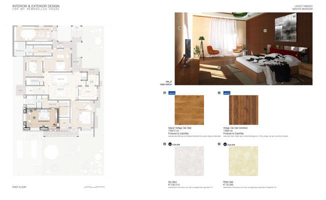 Schema rifiniture interne Maste Bedroom - © A. Pea