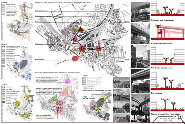 Progetto urbano Tangenziale EST - © F. Bagnardi, F. Perissi, D. Sconocchia