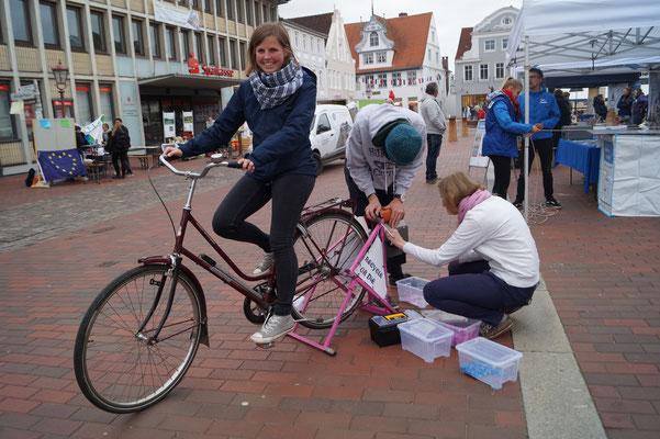Der Fahrradshredder im Einsatz