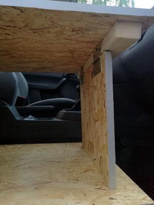 Verlängerung der Liegefläche ist herausnehmbar und kann auch als Tisch verwendet werden.