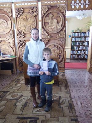 """Пераможца конкурсу """"Птички-симпатички"""" сяродк хлопчыкаў"""