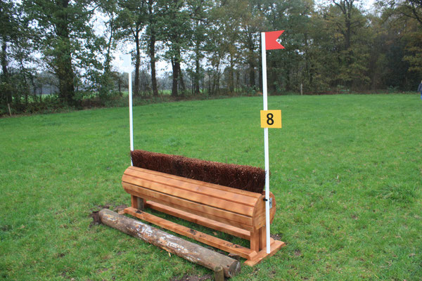 eventing Cross-country hindernis gelände sprong fence crosshindernis cross paard jump obstacle horse paard pferd pony hindernisse borstel brush bixie