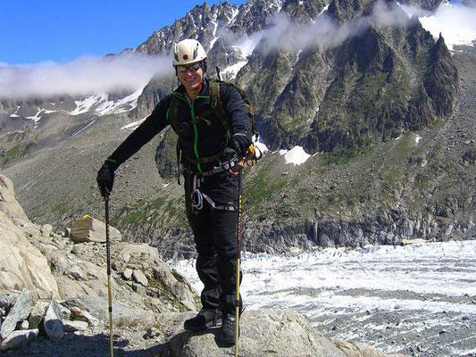 Hochtouren Gehen in den Alpen