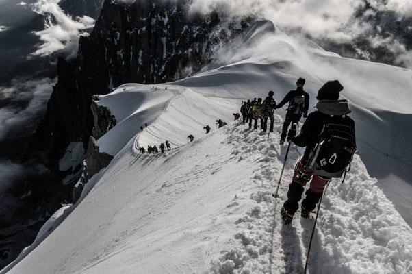 Auf dem Weg zum Mont Blanc (4810 m)