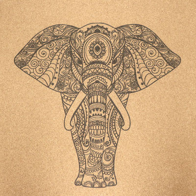 Yogamatte Kork Elefant