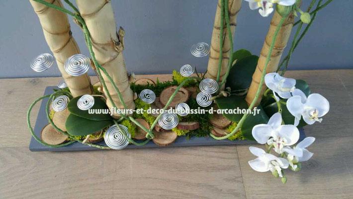 Composition pour un mariage  Foret d'orchidées blanches