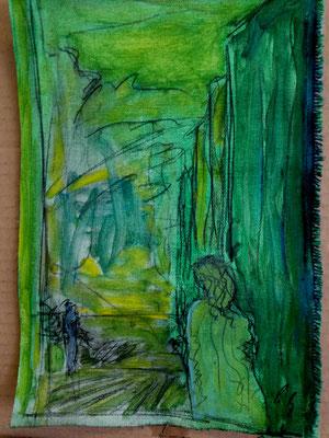 till the next time, oil on canvas, 21,0 cm x 29,7 cm