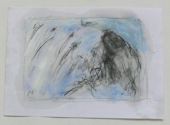 coming closer II, oil on paper, 29,7 cm x42 cm