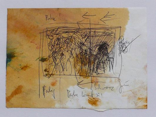 outside my window, oil on paper,  21,0 cm x 29,7 cm