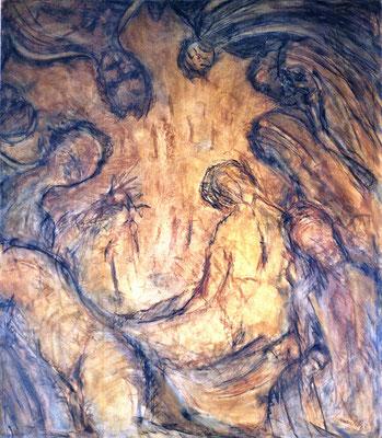 Les jeux sont fait, oil canvas 185  x160 cm