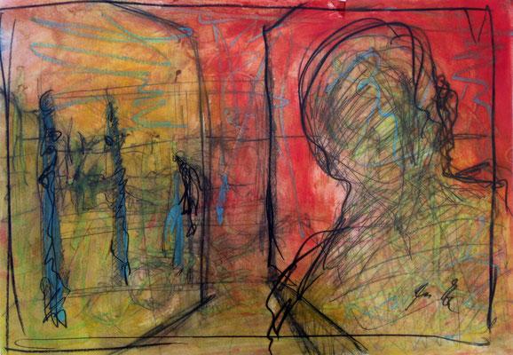 bye bye mary ann, oil on paper, 29,7 cm x42 cm