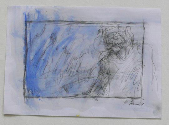 coming closer I, oil on paper,  21,0 cm x 29,7 cm