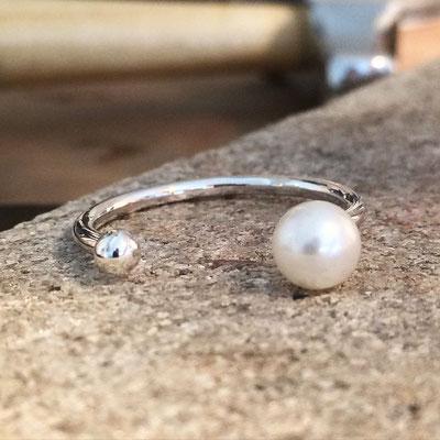 Bague argent • perle