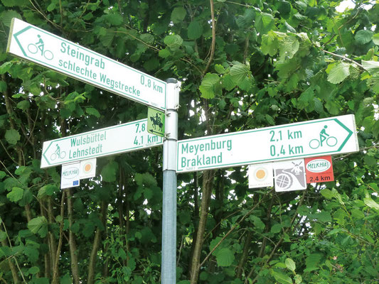 Hinweisschilder für Radfahrwege