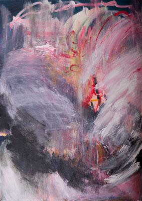 Der Liebesbrief (2005), Acryl auf Leinwand, 100x140cm