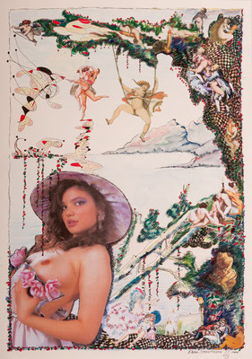 Ergo Direttissimo (2014), Collage, ca. 40x58cm