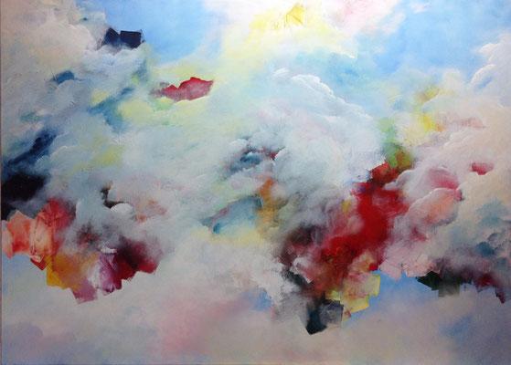 Die Verheißung (2015), Acryl auf Leinwand, ca. 140x100cm