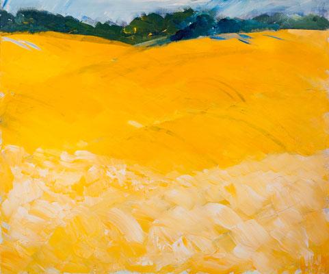 Niederbergische Landschaft (2002), Acryl auf Hartfaser, ca.120x100cm
