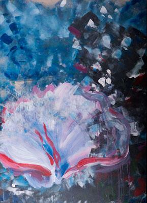 Coral Sea (2000), Acryl auf Karton, 100x140cm