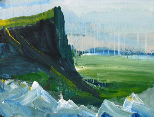 Nordische Landschaft (2000), Acryl auf Karton, ca.140x100cm