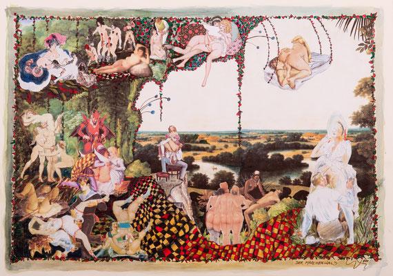 Der Märchenwald (2014), Collage, ca. 56x40cm