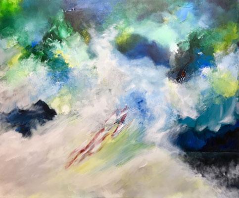 Der Fliegende Holländer (2019), Acryl auf Leinwand, 120x100cm