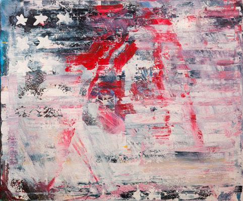 Stars & Stripes (2005), Acryl auf Leinwand, 120x100cm,