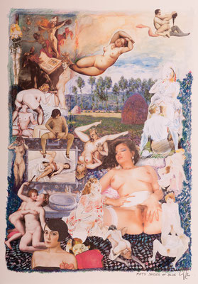Fifty Shades of Blue (2014), Collage, ca. 40x56cm