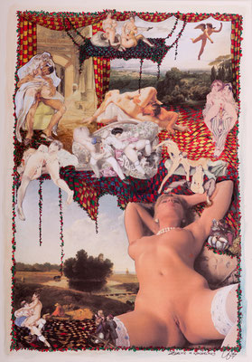 Zealice in Wonderland (2014), Collage, ca.  40x56cm