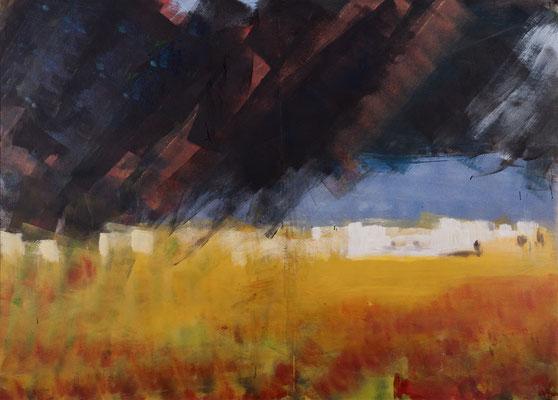 Gewitter (2000), Acryl auf Karton, 140x100cm
