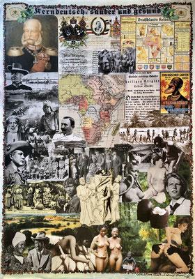 Kerndeutsch, sauber und gesund (2020), Collage, 40x60cm