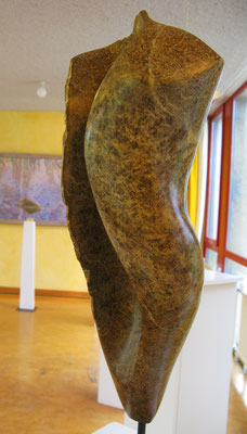 Torso Abstrakt (2008), Steatit, ca.45cm