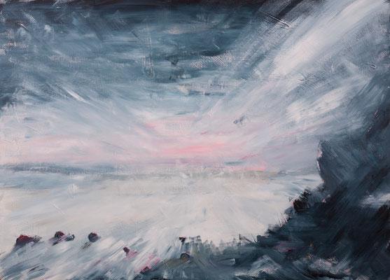 Eiskalter Morgen (2004), Acryl auf Hartfaser, 140x100cm