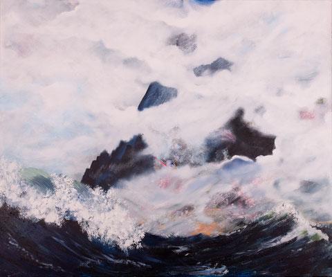 Ferne Welten (2015), Acryl auf Leinwand, 120x100cm