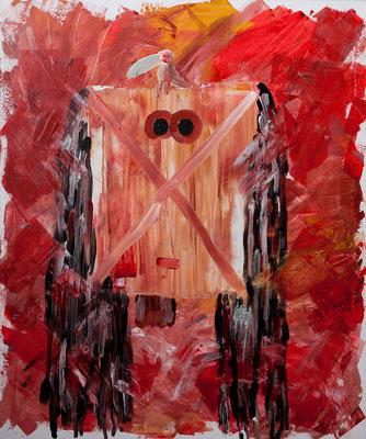 Die Maske (2003), Acryl auf Karton, 100x120cm