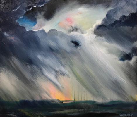 Kaltfront (2018), Öl und Acryl auf Leinwand, 70x58cm