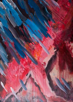Krieg (2000), Acryl auf Karton, 100x140cm