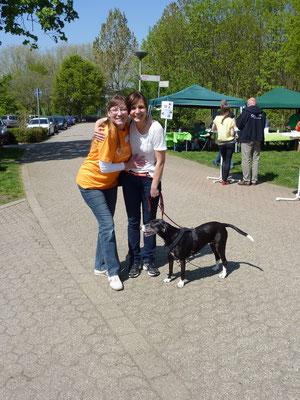Auch 2013 waren Schnucke und Simone wieder beim DogWalk dabei.