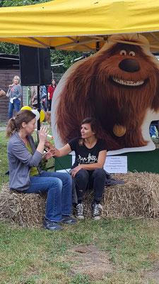 Tierheimfest 09/2016 ; im Gespräch mit unserer Katzenpsychologin Monika Pitz