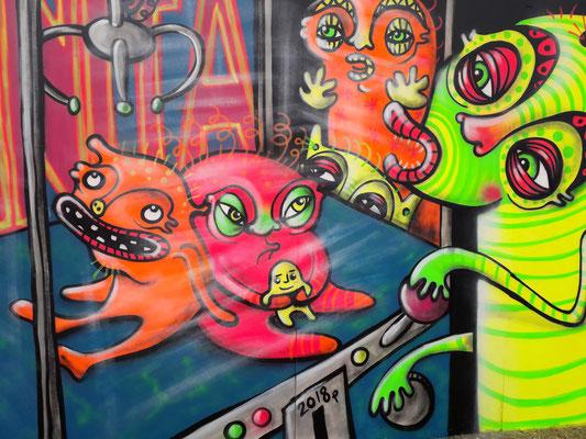 Grabber Machine, Cleethorpes Urban Art Festival, 2018