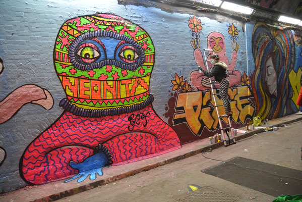 Balaclava with Pixie, Leake Street, London  photo by: Ross Beasley, 2015