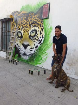 Jaguar, Merida, Mexico, 2017