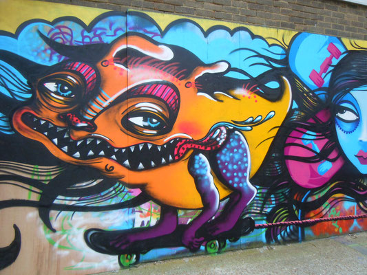 Skating Monster with Mishfit, Brighton Skate Park, Brighton, 2012